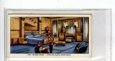(Jc7309-100)  CHURCHMANS,THE QUEEN MARY,SPECIAL SUITE MAIN DECK,1936,#30
