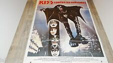 KISS contre les fantomes ! affiche cinema hard rock vintage  1978