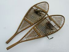 "1930s CHESTNUT CANOE CO SNOWSHOES w/ BINDINGS, Great Condition, 47 1/2"" Long"