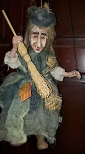 Original Rici Witch Puppet Handmade Czech Marionette  Exclusive