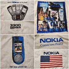 Vintage Nokia Cellphone Cingular Promo T Shirts Spellout Brand New