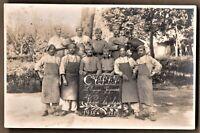 WW1 MILITARY REGIMENT ARMY RECRUIT ANTIQUE RPPC PHOTO POSTCARD