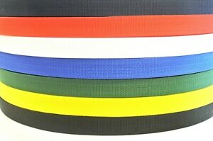 25mm Webbing Rolls Polypropylene Straps and Lashing Choice of Colour Heavy Duty