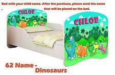 Toddler Children Kids Bed Mattress Delivery 140x70 30. Dinosaurs