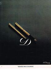PUBLICITE ADVERTISING 064  1978   DUPONT   stylos gamme Vermeil