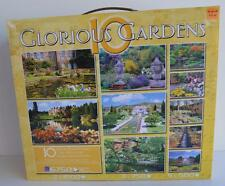 Sure-lox Glorious Gardens 10 Different Gardens Scenes Deluxe Puzzles New Sealed