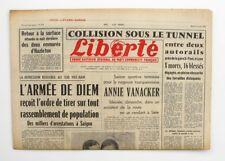 Liberté n°305 - 1963 - Quotidien du parti Communiste - Annie Vanacker - Lyon