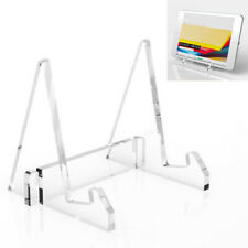 Transparent Acrylic Desktop Tablet PC iPad Stand Holder Book Recipe Clear Rack