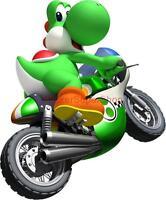 Choose Size - YOSHI On Bike KART Super Mario Decal Removable WALL STICKER Decor
