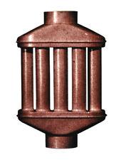 SCAMBIATORE DI CALORE A 8 TUBI PER STUFE M10 DIFFUSORE ARIA CALDA CANNA FUMARIA