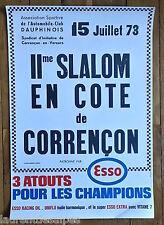 Correncon Villard de Lans - Course automobile - Affiche ancienne/poster 1973