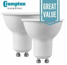 Crompton LED GU10 Thermal Plastic 5W Spotlight Cool White 4000k - 11236 (12x)