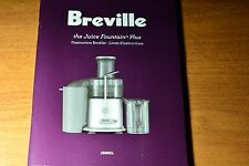Breville Juice Fountain Plus JE98XL Instruction Mode d'emploi English French OEM