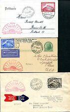 DR 1931 456-458 POLARFAHRT je einzeln auf ZEPPELINBELEG RR(S7424