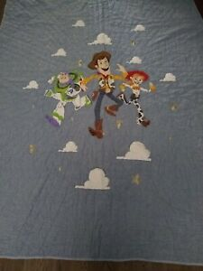 Pottery Barn Kids Disney Pixar Toy Story Quilt - Twin  Woody Buzz Lightyear BLUE
