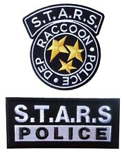 Set of 2 Resident Evil S.T.A.R.S. Raccoon Police  HOOK LOOP PATCH