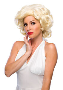 Hollywood Starlet Wig Marilyn Monroe Blonde Dress Up Halloween Costume Accessory