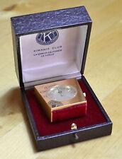 KIWANIS Vintage Table Clock Watch Le Locle Switzerland 1970´s NOT WORKING !!!