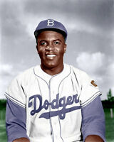 Jackie Robinson #6 Photo 8X10 - Dodgers  COLORIZED - Buy Any 2 Get 1 FREE