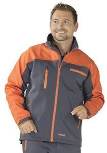 5741 Planam Timberguard Softshell Jacke Herren grau orange Forstbekleidung NEU