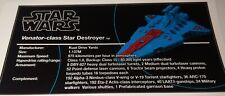 Star Wars Sticker for Lego® MOC-14078 UCS Venator precut (not 8039)