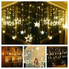 138-LED Sonne Mond &Stern Fairy Schnüre Ramadan Urlaub Dekoration Licht Deko