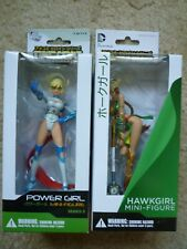 Ame-Com Power Girl and Hawkgirl Figures - Brand New in Box