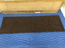Set of 13 Natural Area Rugs Halton Chocolate Indoor Polyester Stair Treads