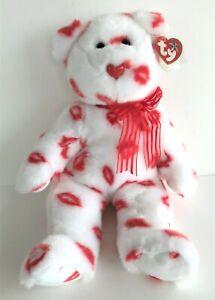 Ty Beanie Buddies Collection Smooch Teddy Bear 35 cm 2001