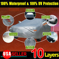 10 Layer 3L SOFT Silver Full New Car Cover Seams Sun UV Dirt Dust Resist Proof