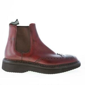 GREEN GEORGE women shoes Bordeaux leather ankle boot wingtip made in Italy