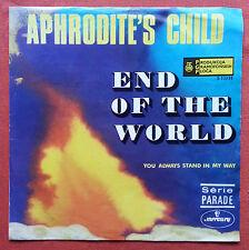 APHRODITE'S CHILD-END OF THE WORLD RARE YUGOSLAVIAN 7'' PS 1979 UNIQUE LABEL
