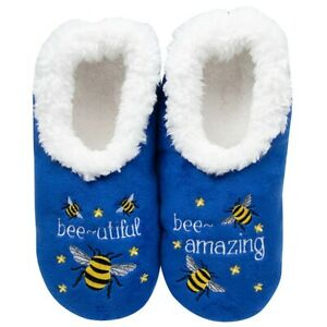 Snoozies  cosy feet coverings Style pairables Bee-utiful   Colour Blue New