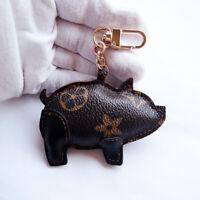 Floral Flower Pig Piggy Tassel Car KeyChain Pendant for Backpack Handbags Charm