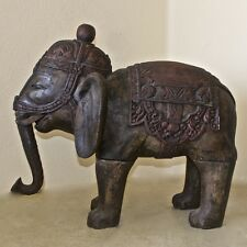Elephant Wood Carved with Intricately Detail in High Relief from Bali
