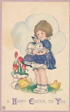 EASTER – Girl Holding Bunny
