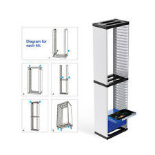 Game CD Disk Storage Holder Tower Stand For PS4 Pro/PS4/PS5/ONE/Nintendo Switch