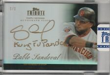 "PABLO SANDOVAL GOLD INSCRIPTION AUTO #1/1 ""KUNG FU PANDA"" 2012 TOPPS TRIBUTE"