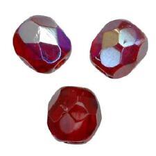 25 Perles Facettes cristal de boheme 6mm SIAM AB