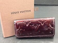 Auth Louis Vuitton Monogram Multicles Amarante 4Hooks Key Case Vernis  7C210300s