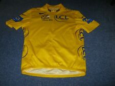 TOUR DE FRANCE 2008 NIKE YELLOW LEADERS CYCLING JERSEY [Small adult]
