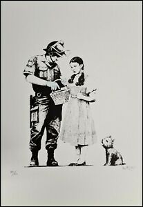 BANKSY * Stop and Search * 50x35 cm * Lithografie * limitiert # 34/60