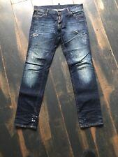 ORIGINALE DSQUARED d2 tg. 50 32 Jeans Pantaloni Blu 499 € W. NUOVO AUTHENTIC must have
