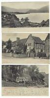 4 Postcard Lot Hold to Light HTL England Great Britain United Kingdom UK 1905