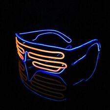 Orange & Blue glasses Neon wire EL LED Shutter party rave disco club Activities