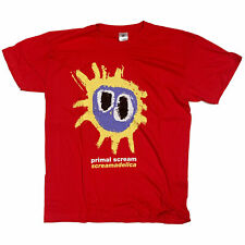 Primal Scream T Shirt - Screamadelica Red 100% Official 90's Screenprinted Fab!