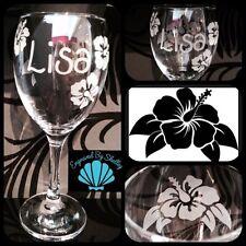Design personalizzato per vino in vetro regalo di compleanno fatto a mano libera incisione personalizzata!