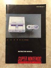 Super Nintendo Console ( Super Nintendo ) , SNES Instruction Booklet,Manual Only