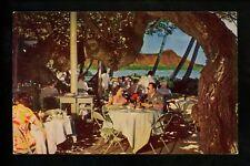 Hawaii HI postcard Waikiki Honolulu Coral Lanai Halekulani Hotel chrome