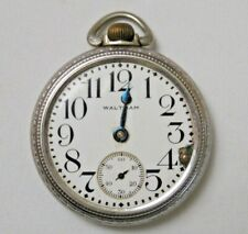 Vtg Waltham Emperor Pocket Watch Mixed Parts For Repair As Is